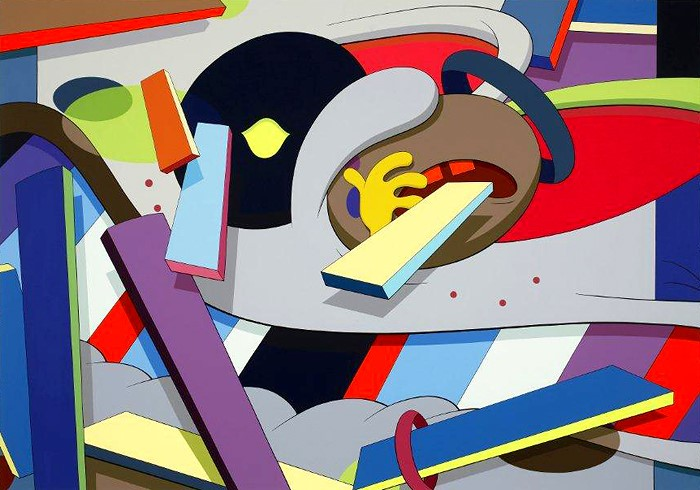 KAWS, Where the End Starts, 2011. Acrylic on canvas. 84 x 120 inches. Collection of the Modern Art Museum of Fort Worth, Gift of the Director's Council and Museum purchase, 2012