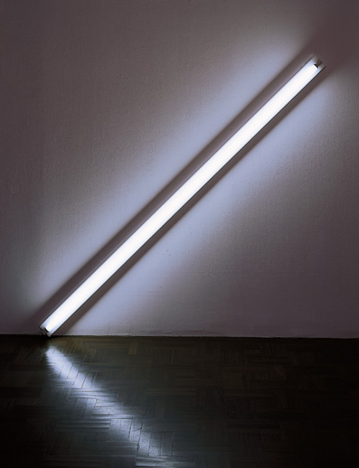 Dan Flavin, Diagonal of May 25, 1963, 1963. Modern Art Museum of Fort Worth.