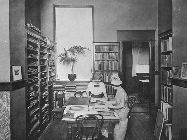 Carnegie Public Library Interior, Fort Worth, Texas, circa 1910