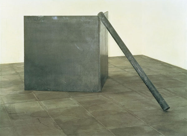 Richard Serra, Right Angle Corner Prop with Pole, 1969. Modern Art Museum of Fort Worth.